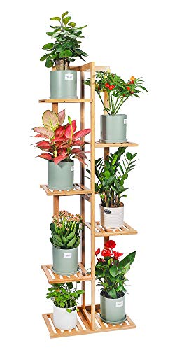 Desheng Bamboo Plant Stand Rack 6 Tier 7 Potted
