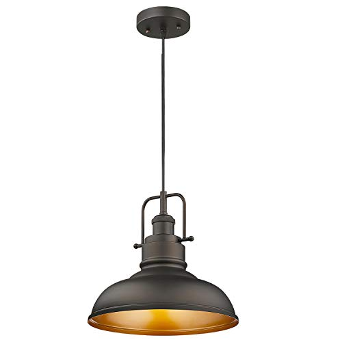 Zeyu Farmhouse Pendant Light, 1-light Industrial