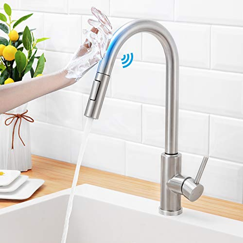 Hgn Touch On Kitchen Faucets With Pull Down