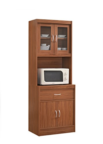 Hodedah Long Standing Kitchen Cabinet With Top &