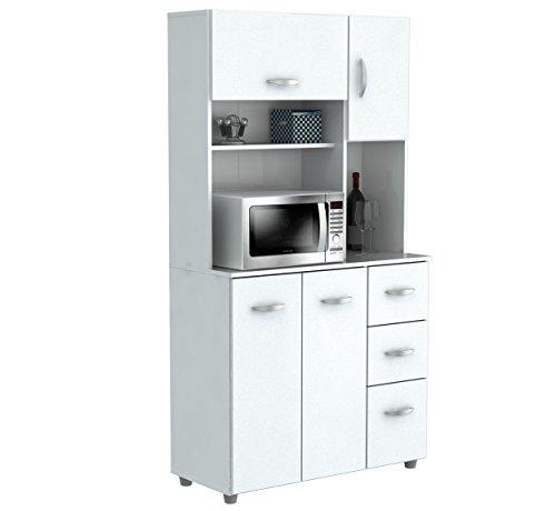 Inval America 4 Door Microwave Storage Cabinet,