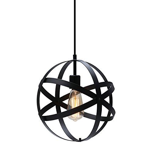 Kingso Industrial Metal Pendant Light, Spherical
