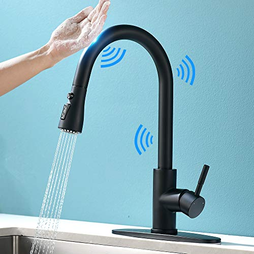 Touch On Kitchen Faucets With Pull Down Sprayer