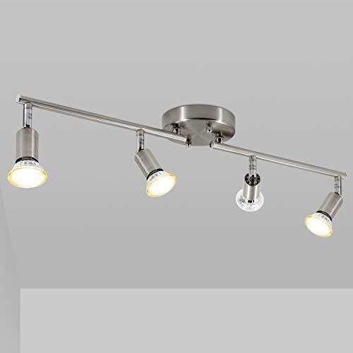 Led 4 Light Track Lighting Kit, Matte Nickel 4 Way