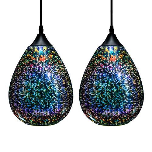 3d Glass Pendant Light, Modern Kitchen Pendant