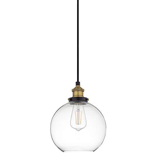 Primo Large Glass Globe Pendant Light Fixture -
