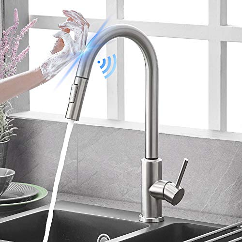 Qomolangma Touch Sensor Kitchen Faucets With Pull
