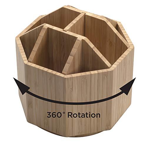 Bamboo Rotating Utensil Holder & Kitchen