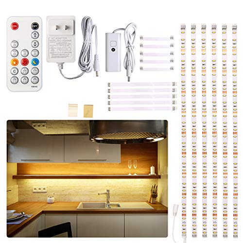Under Cabinet Led Lighting Kit, 6 Pcs Led Strip