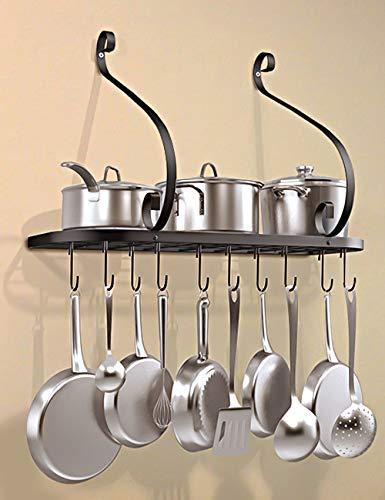 Vdomus Wall Mount Pot Pan Rack, Kitchen Cookware