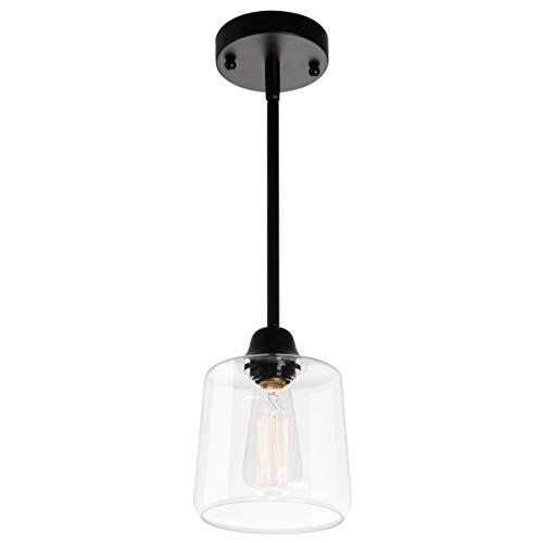 Viluxy Vintage Glass Pendant Light, Single Hanging