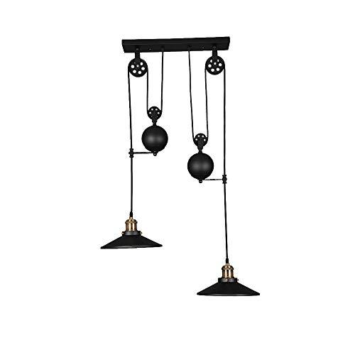 Winsoon Black Iron Painted Creative Pulley Style