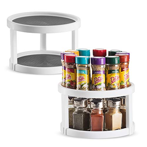 2 Pack Non Skid Lazy Susan Turntable Cabinet