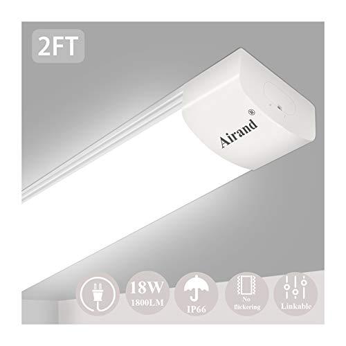 Airand 5000k Led Ceiling Light Fixture, 2ft Ip66
