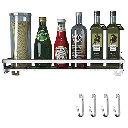 Eastore Life Spice Rack Organizer With 4 Hooks -