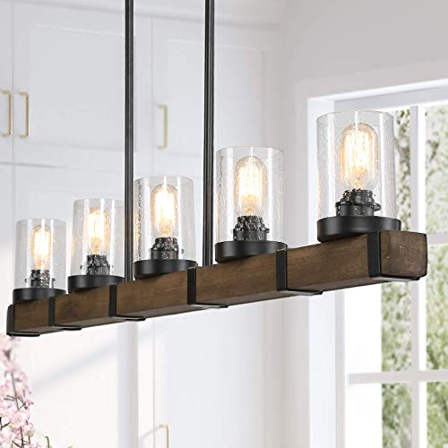 Farmhouse Chandeliers For Dining Room,5-lights