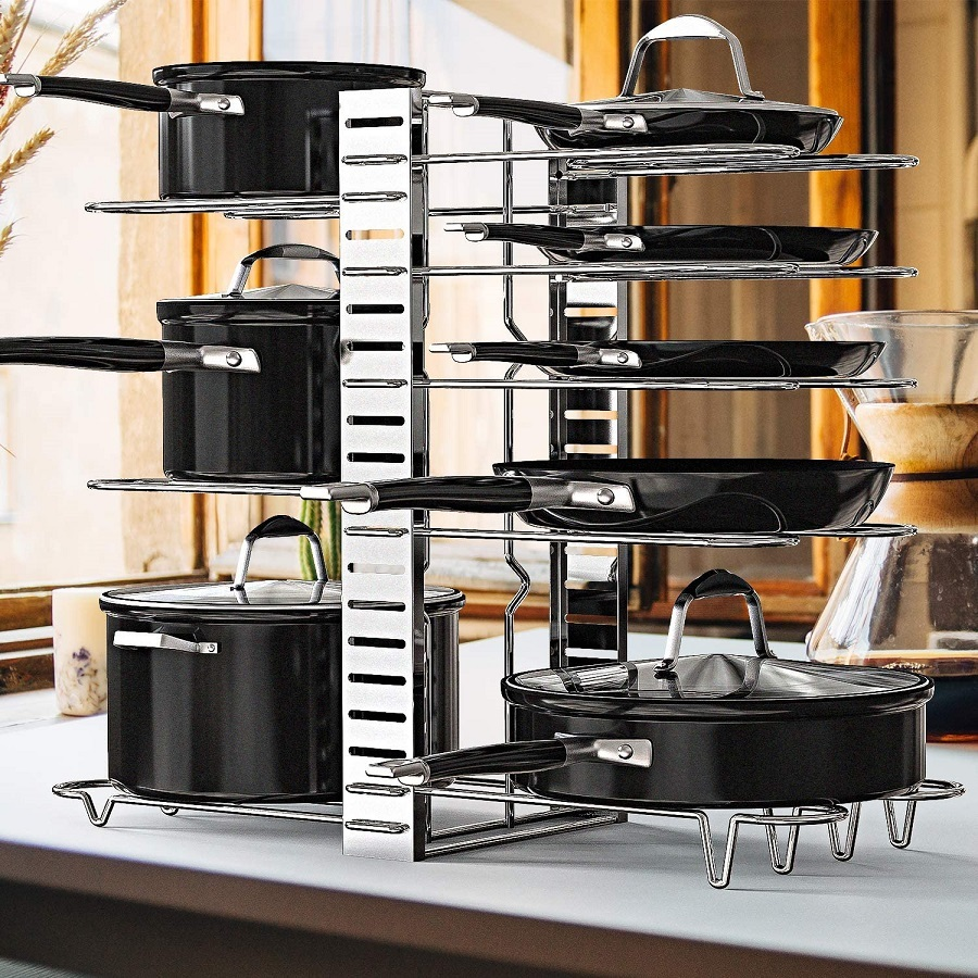 geekdigg pot and pan organizer