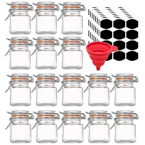 Kingrol 16 Pack Spice Jars, 3.5 Oz Glass Jar With