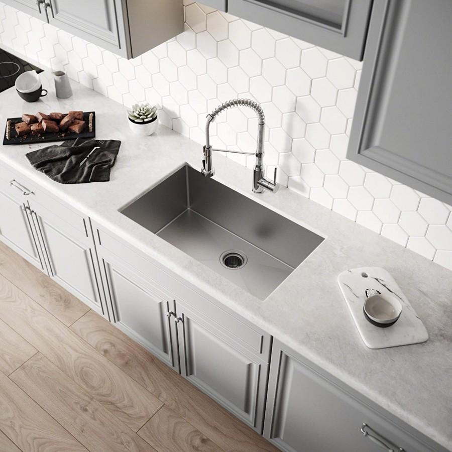 Kraus Khu100-30 Kitchen Sink, 30 Inch, Stainless