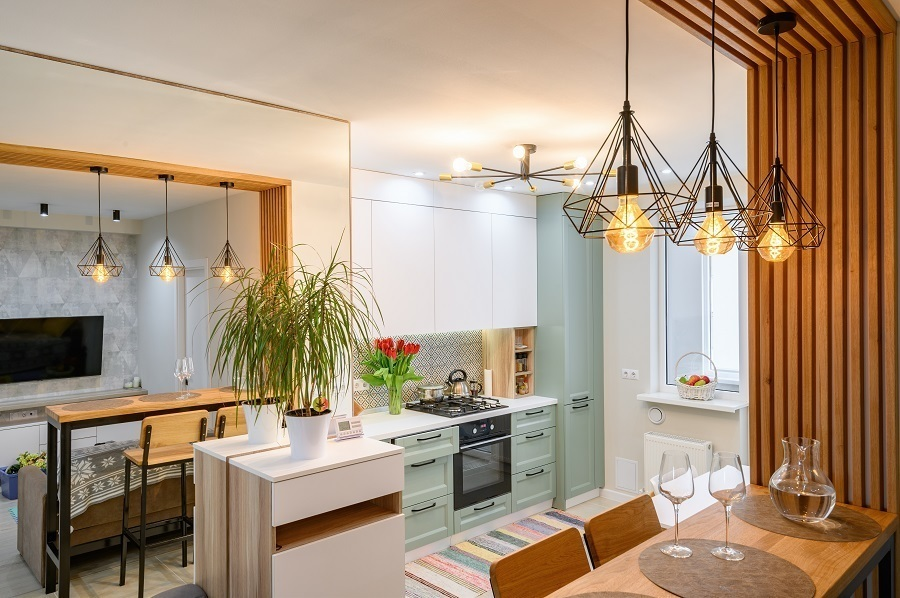 low ceiling kitchen lighting layers