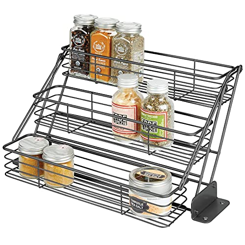 Mdesign Metal 3-tier Pull Down Spice Rack - Easy
