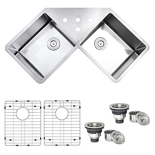 Ruvati Rvh8400 Undermount Corner Kitchen Sink 16