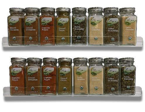 Set Of 2 Acrylic Floating Wall Shelves, Spice