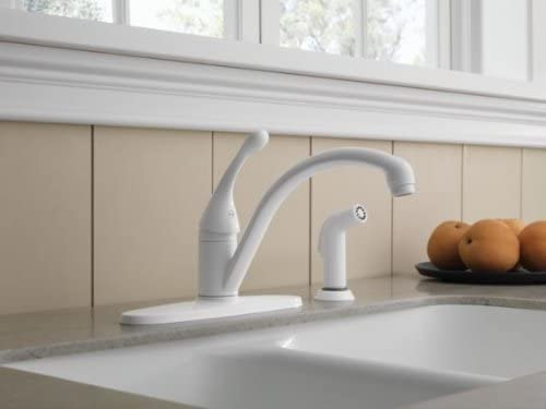 single handle kitchen faucet with sprayer