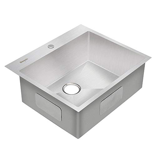 Bonnlo 25 Inch Drop-in Kitchen Sink 18 Gauge T304