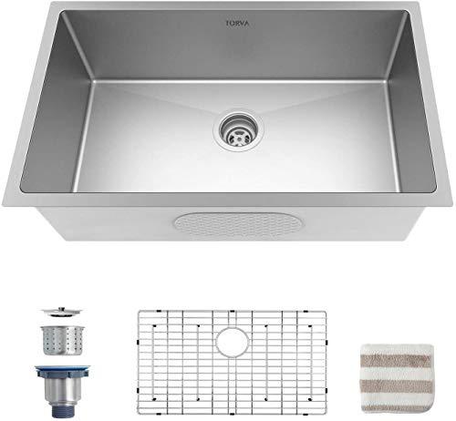 Torva 32-inch Undermount Kitchen Sink 16 Gauge