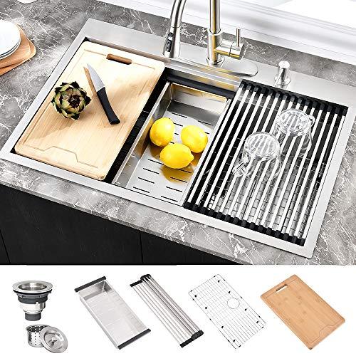 Hosino 33x22 Drop In Kitchen Sink, 16 Gauge