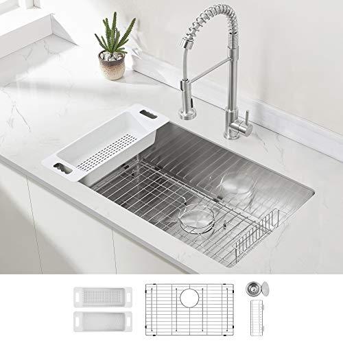 Modena Undermount Kitchen Sink Set, 16-gauge
