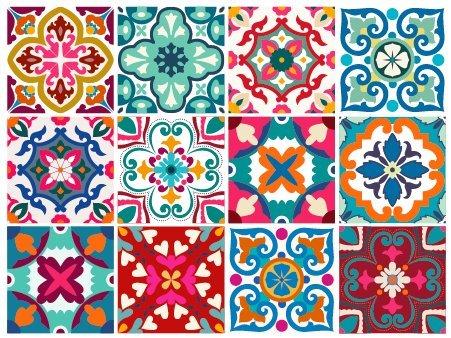 Florencia Decorative Tile Stickers Set 12 Units