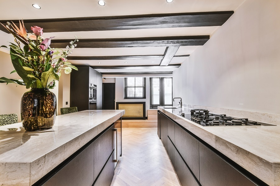 kitchen counters and island same height