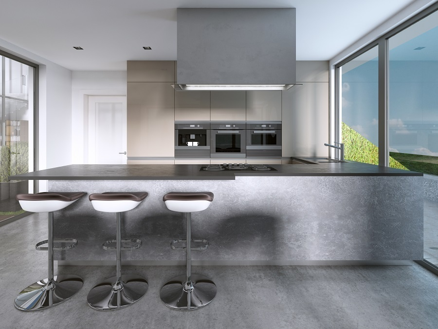 mix stools and kitchen cabinets